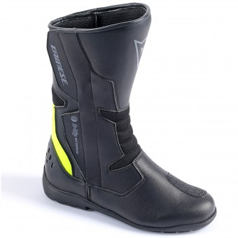 Motorradstiefel Dainese Tempest Lady D-Waterproof Black Yellow Fluo