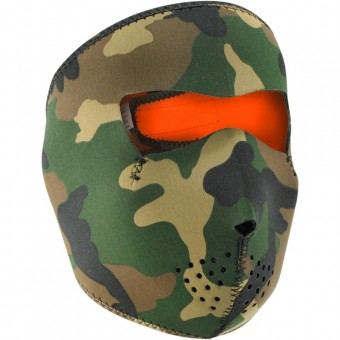 Schutzmaske Zanheadgear Woodland Camo Reversible Orange
