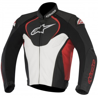 Motorradjacke Alpinestars Jaws Black White Red