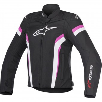 Motorradjacke Alpinestars Stella T-GP Plus R V2 Air Black White Fuchsia