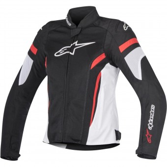 Motorradjacke Alpinestars Stella T-GP Plus R V2 Air Black White Red