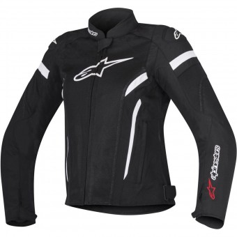 Motorradjacke Alpinestars Stella T-GP Plus R V2 Air Black White