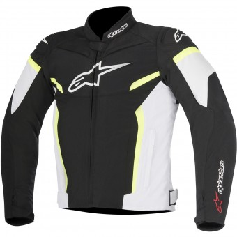 Motorradjacke Alpinestars T-GP Plus R V2 Black White Yellow Fluo