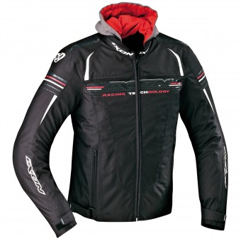 Motorradjacke Ixon Dual Black White Red
