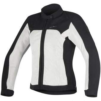 Motorradjacke Alpinestars Eloise Black Light Gray