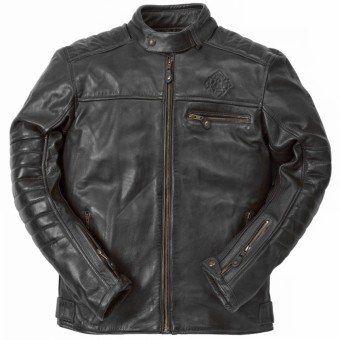 Motorradjacke Ride & Sons Getaway Cow Skin Black
