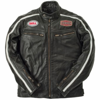 Motorradjacke Ride & Sons Heritage Racing Buffalo Black