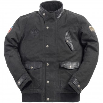 Motorradjacke Ride & Sons Runaway Black Waxed