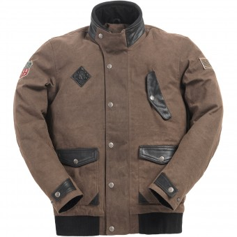 Motorradjacke Ride & Sons Runaway Brown Waxed