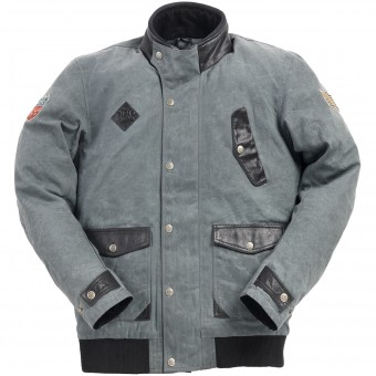 Motorradjacke Ride & Sons Runaway Grey Waxed