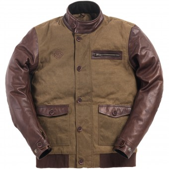 Motorradjacke Ride & Sons Varsity Army Brown