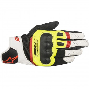 Motorradhandschuhe Alpinestars SP-5 Black Yellow Red Fluo
