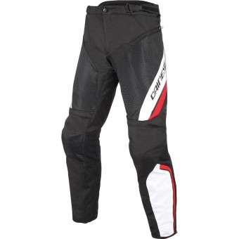 Motorradhose Dainese Drake Air D-Dry Black White Red