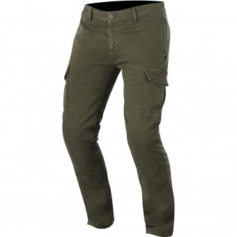 Motorradhose Alpinestars Deep South Denim Cargo Military Green