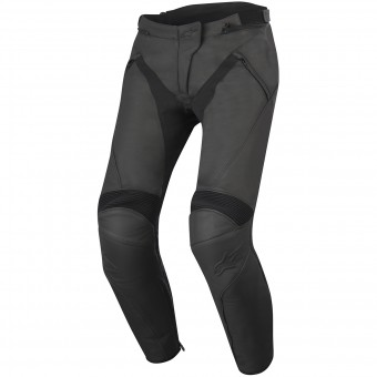 Motorradhose Alpinestars Stella Jagg Leather Black Black