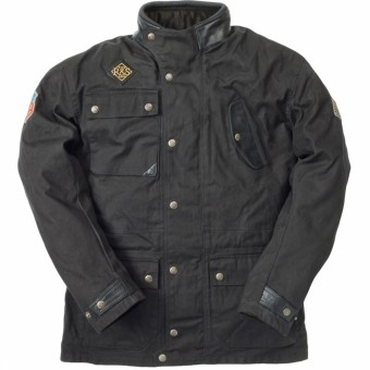 Motorradjacke Ride & Sons Escape Waxed Black