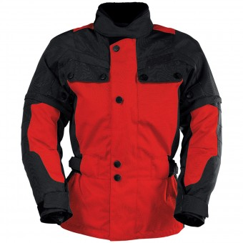 Motorradweste IXS Explorer Jacket II Black Red Kid