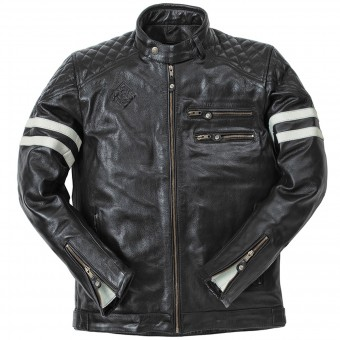 Motorradjacke Ride & Sons Magnificient Buffalo Skin Black