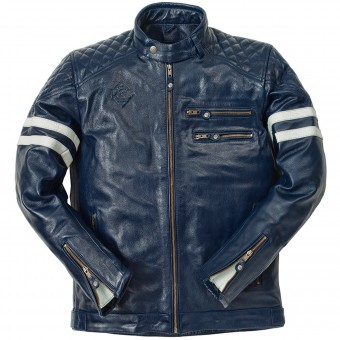 Motorradjacke Ride & Sons Magnificient Buffalo Skin Blue