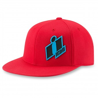 Motorrad Kappen ICON Double Up Hat Red