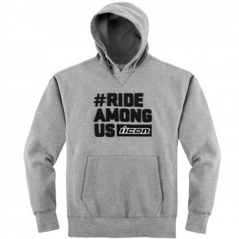 Motorrad Pullover ICON R.A.U. Hoody Charcoal