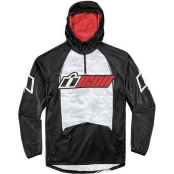 Motorrad Pullover ICON Single Stack Red
