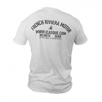 Motorrad T-Shirts  iCasque French Riviera Motor White