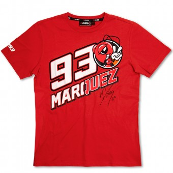 Motorrad T-Shirts  Marquez 93 T-Shirt Red MM93
