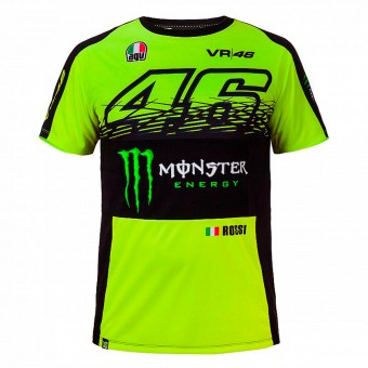Motorrad T-Shirts  VR 46 T-Shirt Replica Monster Fluo Yellow VR46