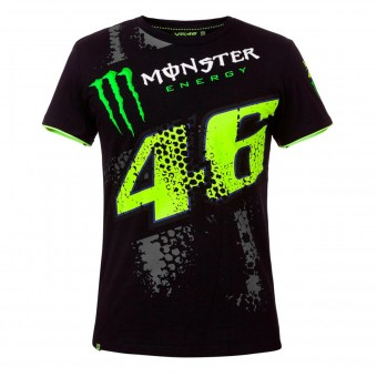 Motorrad T-Shirts  VR 46 T-Shirt Repplica DTBC Monster Black VR46