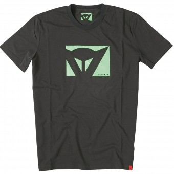Motorrad T-Shirts  Dainese Color New Black Green Fluo