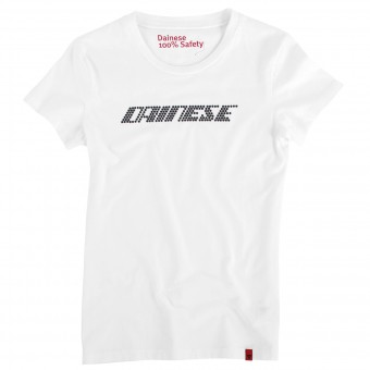 Motorrad T-Shirts  Dainese Shine Type Lady White