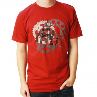 Motorrad T-Shirts  Alpinestars Sprockets Tee Rio Red