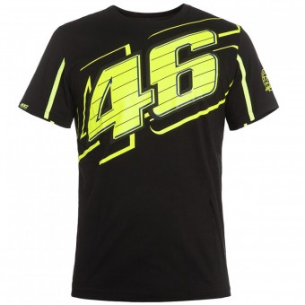 Motorrad T-Shirts  VR 46 T-Shirt Black Yellow VR46