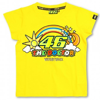 Motorrad T-Shirts  VR 46 T-Shirt Kid Yellow VR46