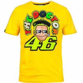 Motorrad T-Shirts  VR 46 T-Shirt Yellow Face VR46