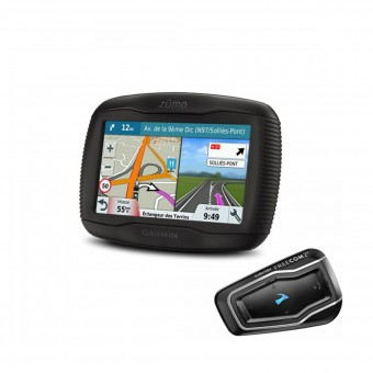 GPS-Navigation Garmin Zumo 395 Travel Edition et Scala Rider Freecom 2