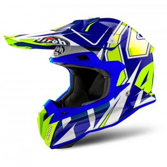 Casque Cross Airoh Terminator Open Vision Shock Blue
