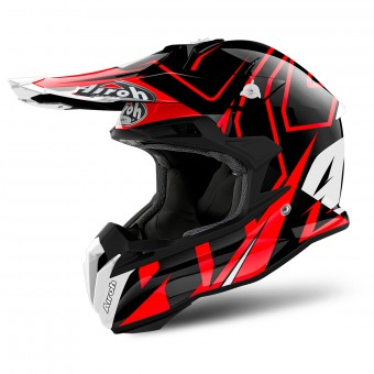 Casque Cross Airoh Terminator Open Vision Shock Red