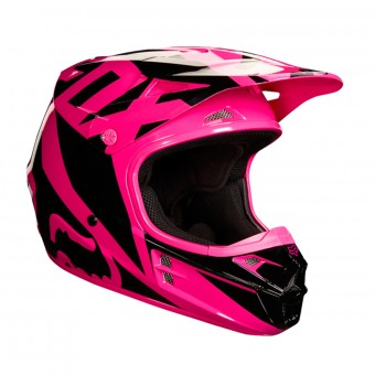 Casque Cross FOX V1 Race Pink Black