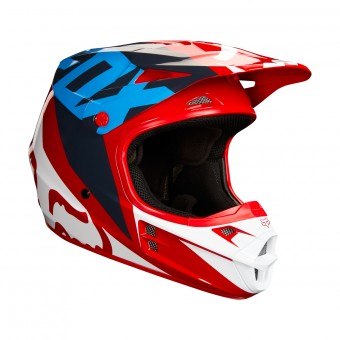 Casque Cross FOX V1 Race Red White