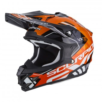 Casque Cross Scorpion VX-15 Air Argo Black Orange