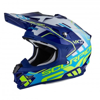 Casque Cross Scorpion VX-15 Air Argo Blue White