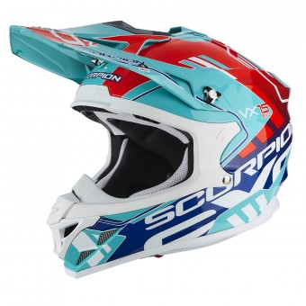 Casque Cross Scorpion VX-15 Air Argo Green Blue