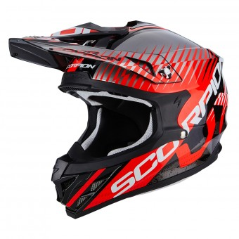 Casque Cross Scorpion VX-15 Air Sin Black Neon Red