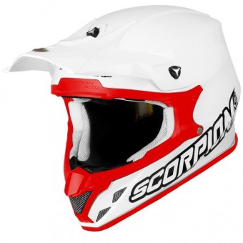 Casque Cross Scorpion VX-20 Air Weiß Rot
