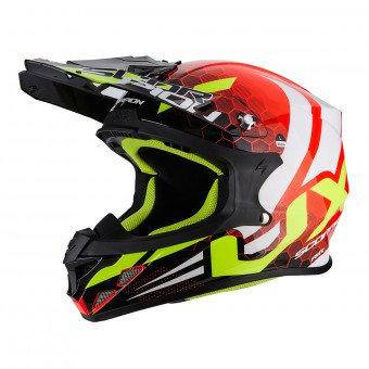 Casque Cross Scorpion VX-21 Air Xagon Neon Red Black