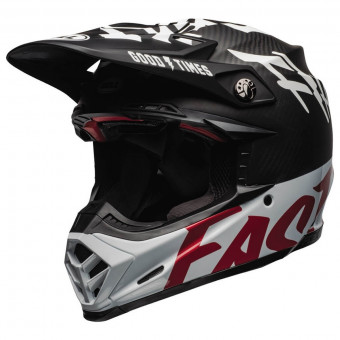 Casque Cross Bell Moto-9 Flex Fasthouse WRWF Black White Red
