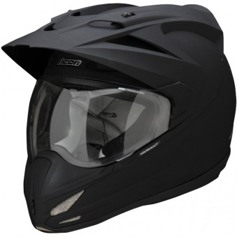 Casque Cross ICON Variant Solid Black Rubatone
