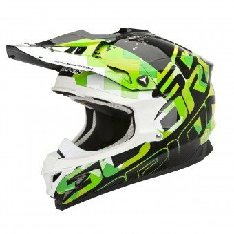 Casque Cross Scorpion VX-15 Evo Air Grid Schwarz Grün